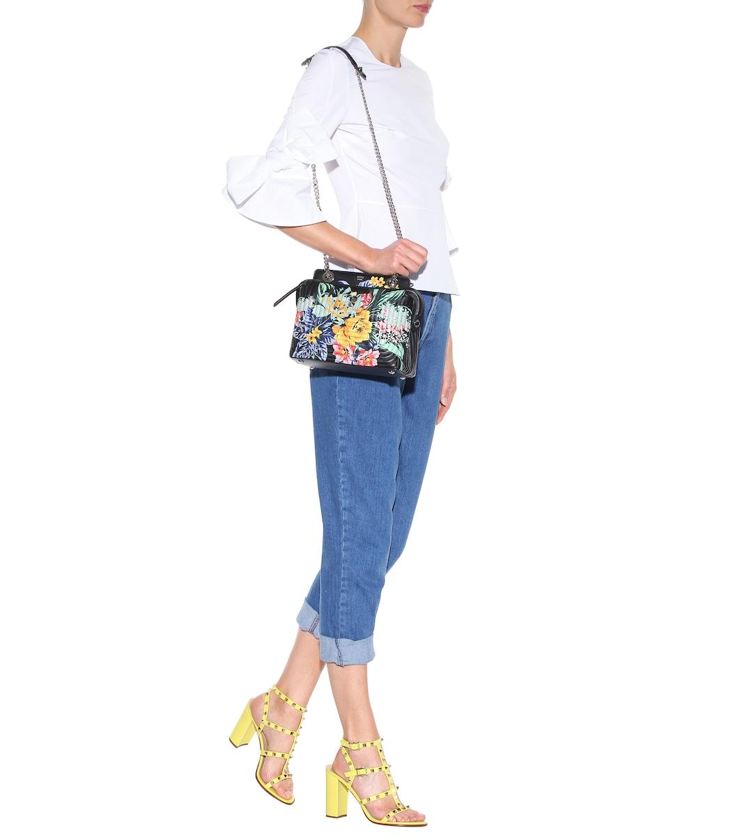 f102e32dd10 Fendi - DotCom Click printed leather shoulder bag | Mytheresa