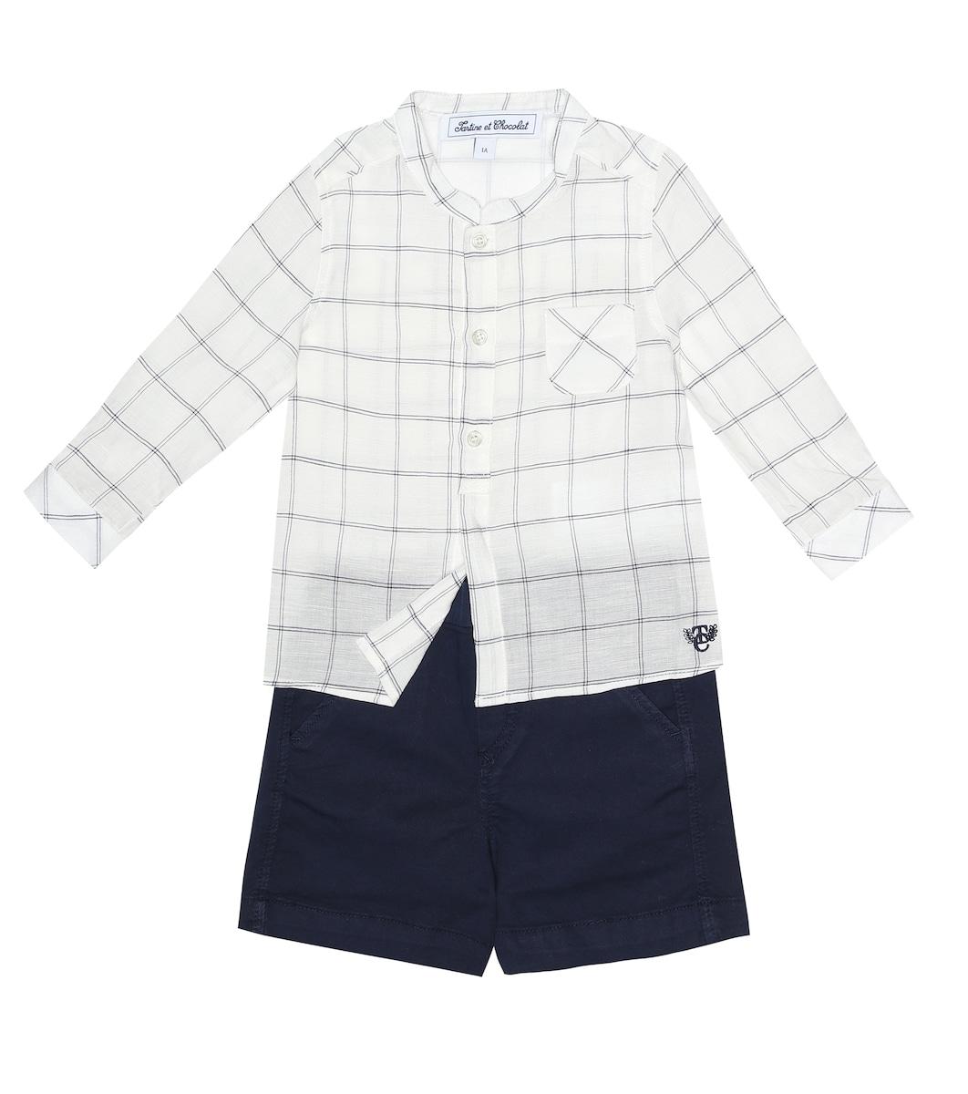 a9b6b5a88 Baby Checked Linen-Blend Shirt | Tartine et Chocolat - Mytheresa