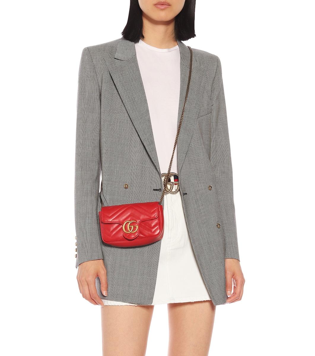285b47bc1c034a Gg Marmont Super Mini Shoulder Bag   Gucci - mytheresa.com