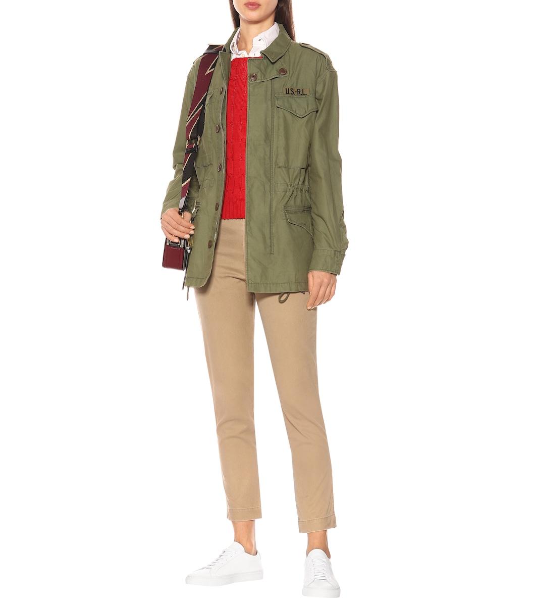 b4e45f72b Cotton Twill Military Jacket - Polo Ralph Lauren