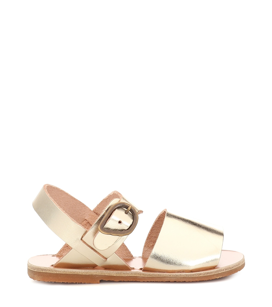 Greek Pelle Kaliroi Little Sandali In MetallizzataAncient Sandals LUVjqpSzMG