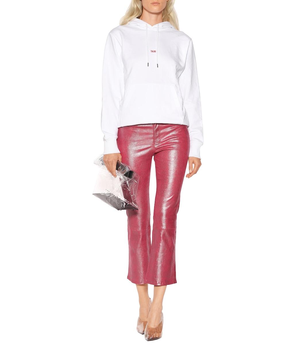 b81889bd92a Selena Mid-Rise Crop Leather Pants | J Brand - mytheresa.com