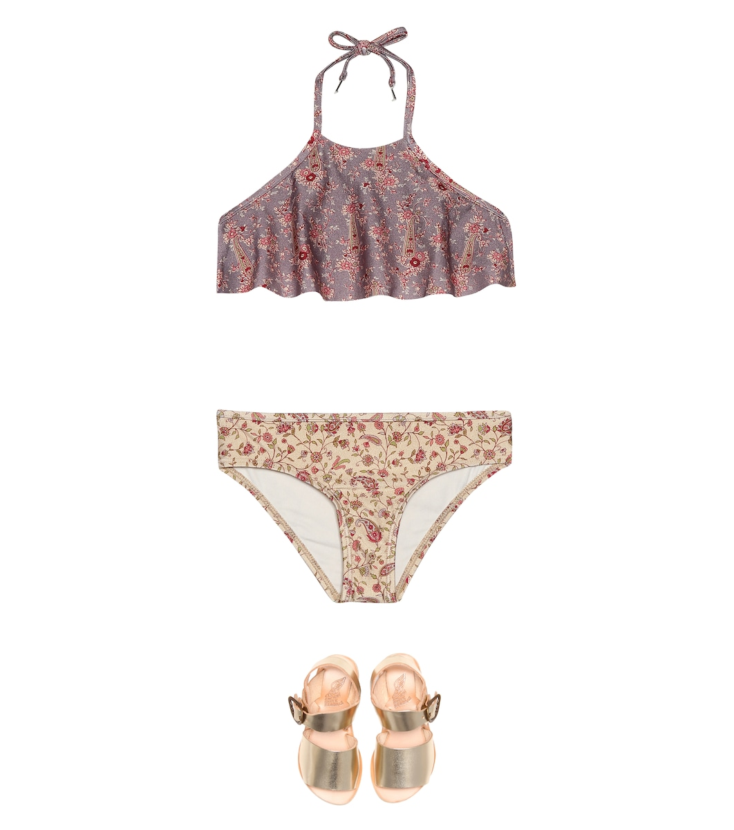 Zimmermann Kids - Juniper Flare printed bikini