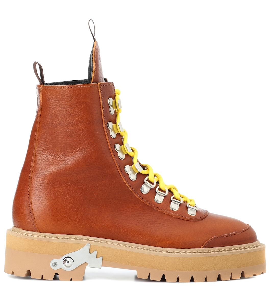 6531b460b8f Off-White - Leather hiking boots   Mytheresa