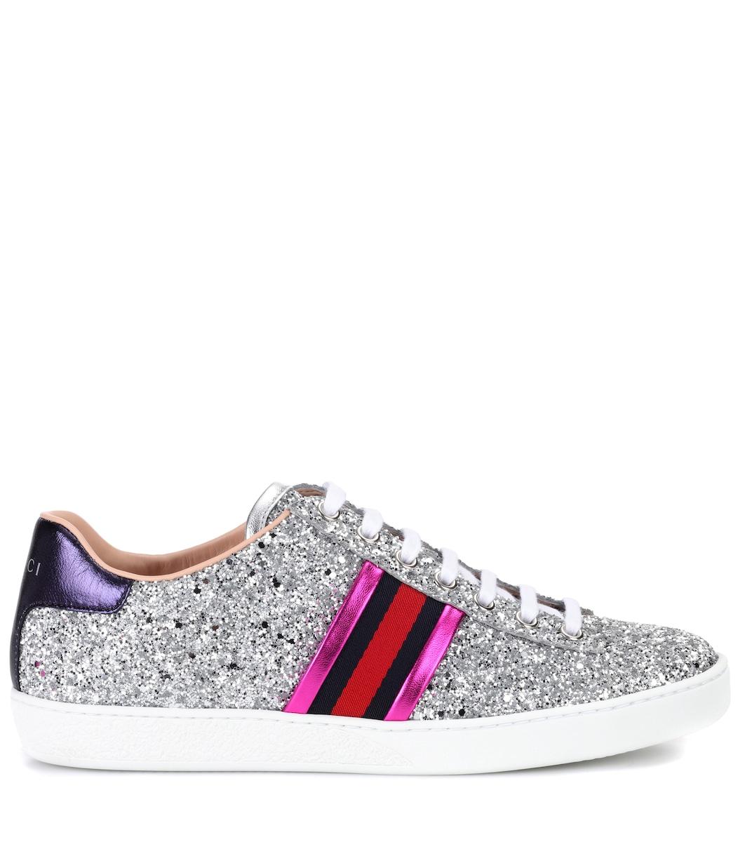 6e6acb5f6776 Gucci - Ace glitter sneakers | Mytheresa