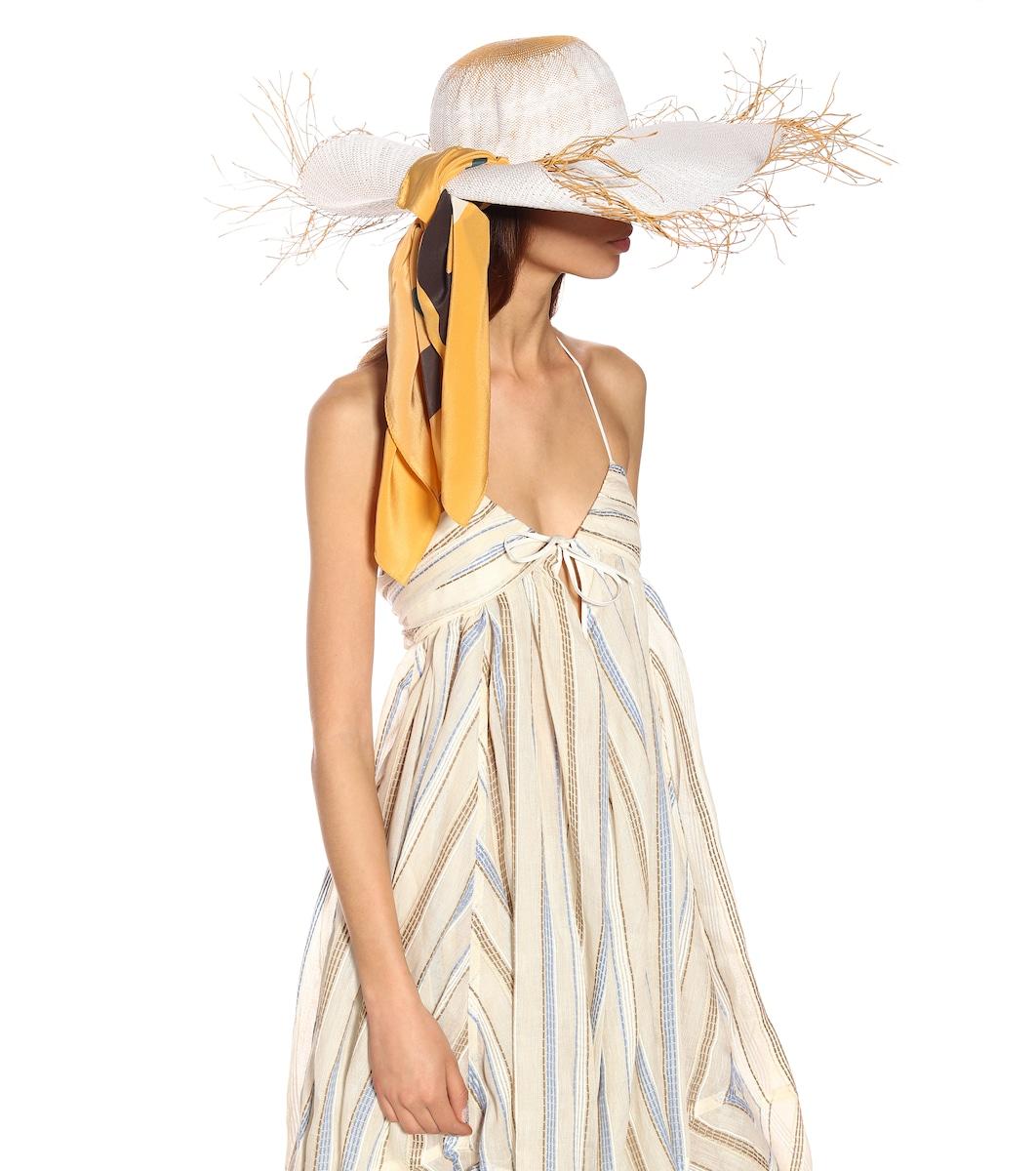 De Mytheresa Algodón Beige Robe La Calci Vestido 92IEHD