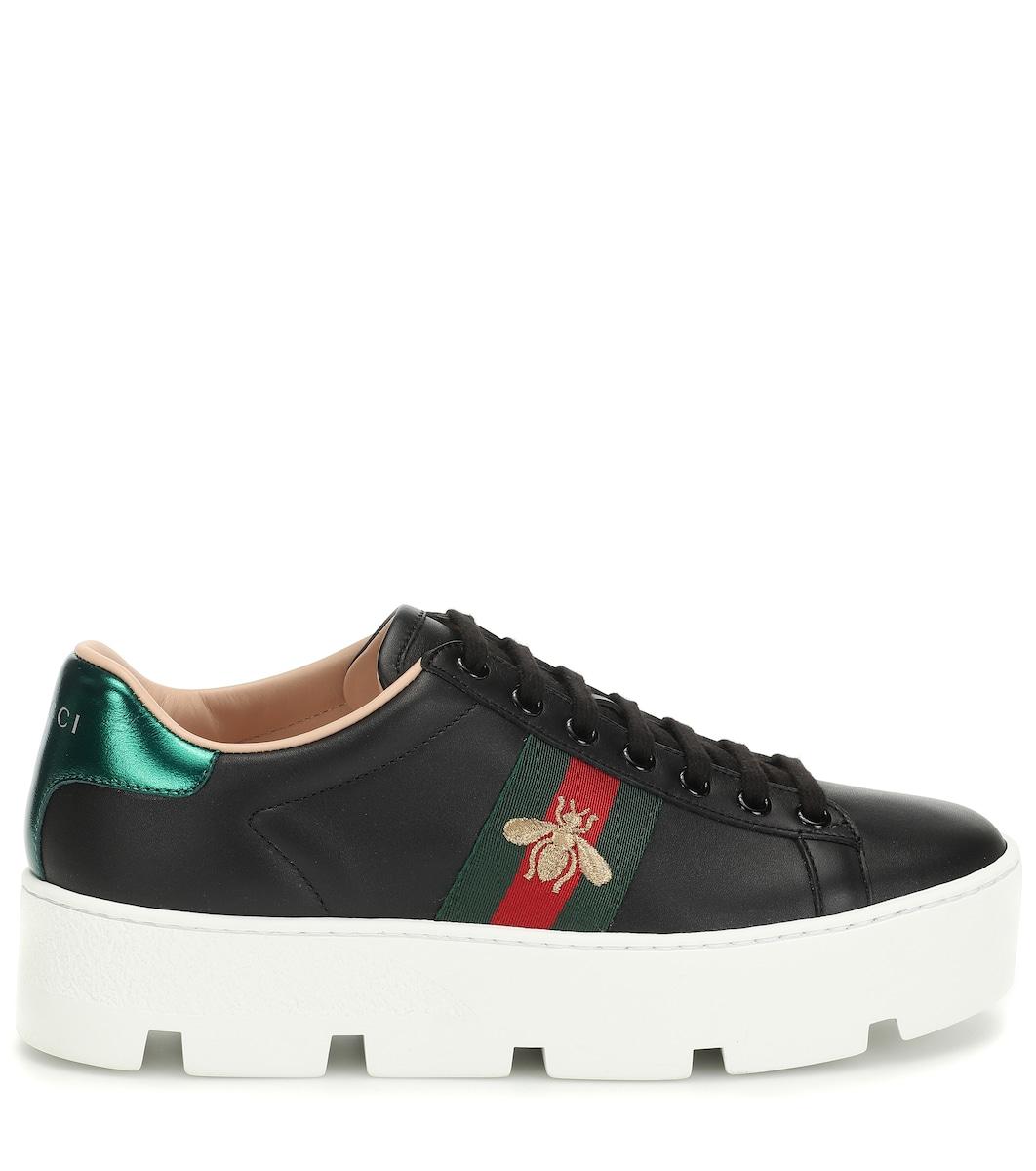 082b5ebe8 Gucci - Ace leather platform sneakers | Mytheresa