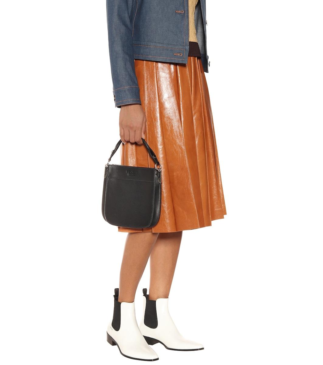 eeacae4a2e90cd Margit Leather Shoulder Bag   Prada - mytheresa