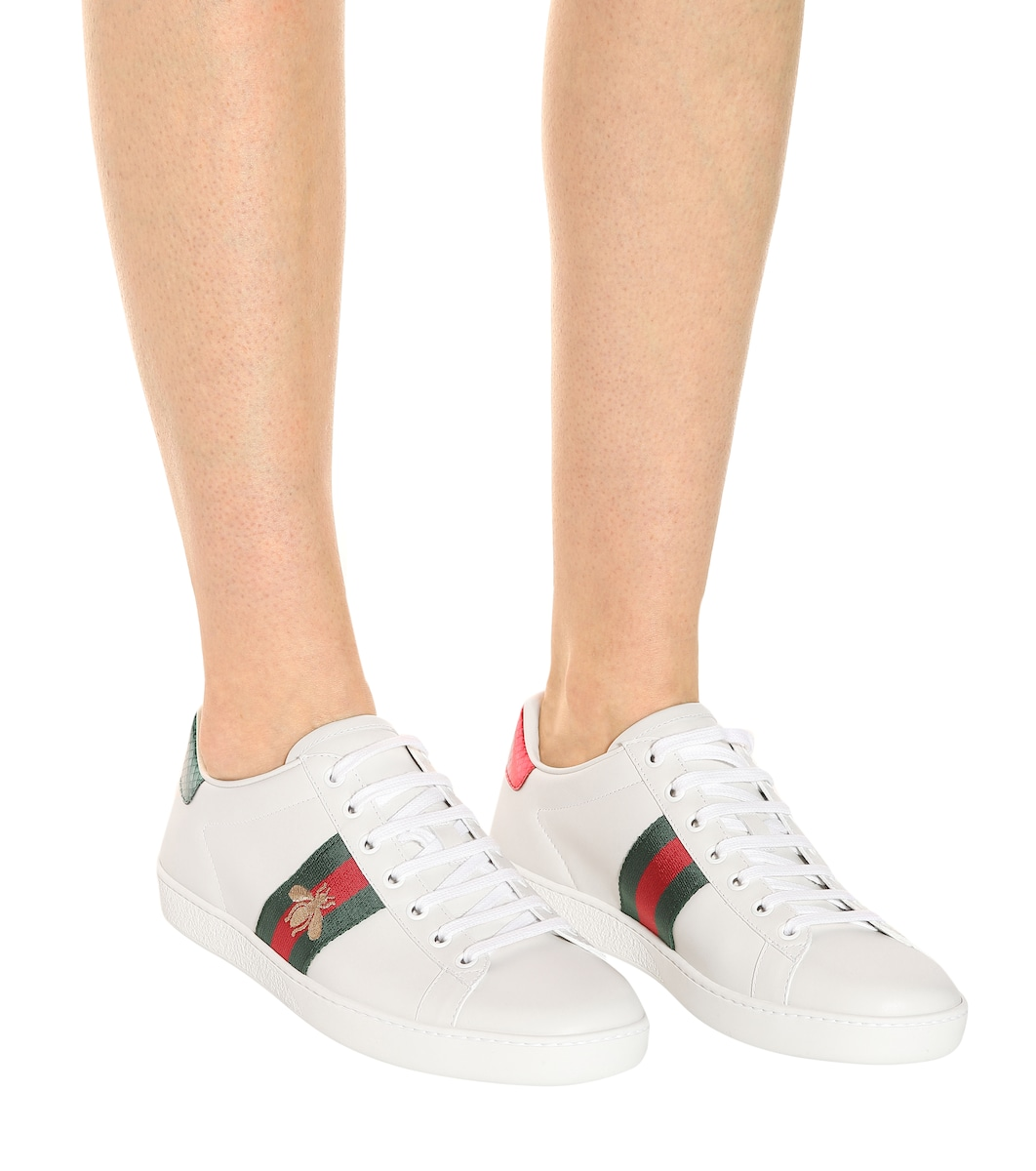 34ae7d24a6 Ace Leather Sneakers | Gucci -