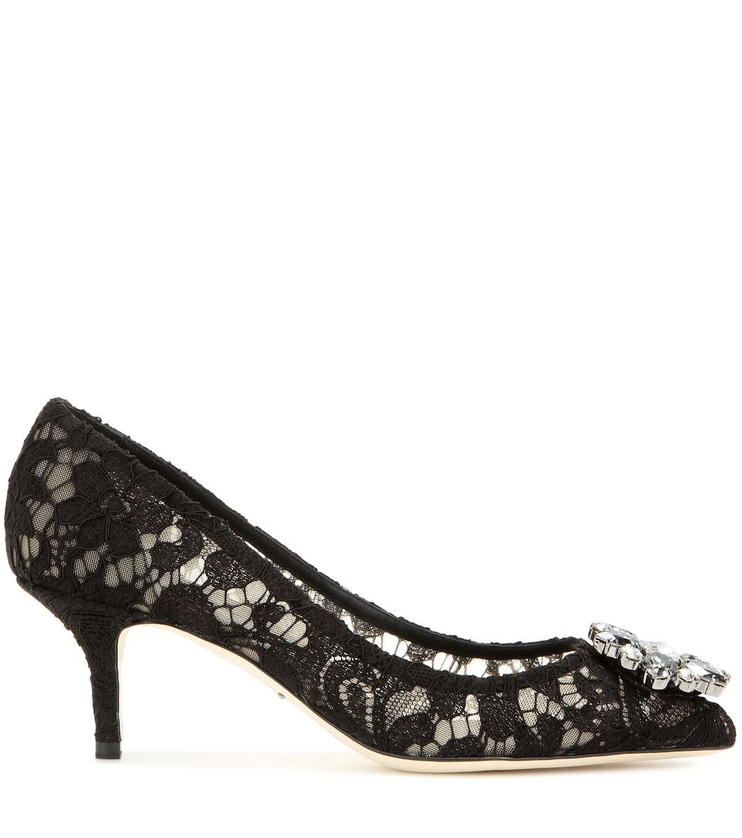 f0ea56622 حذاء من الدانتيل مع تزيين بالكريستال Bellucci - Dolce & Gabbana | mytheresa