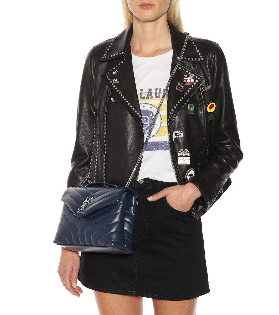 a0e2ce24a3 Small Loulou Leather Shoulder Bag - Saint Laurent | mytheresa