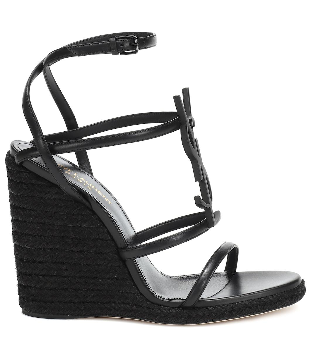 0f62d7f6bf15 Saint Laurent - Cassandra 115 wedge sandals