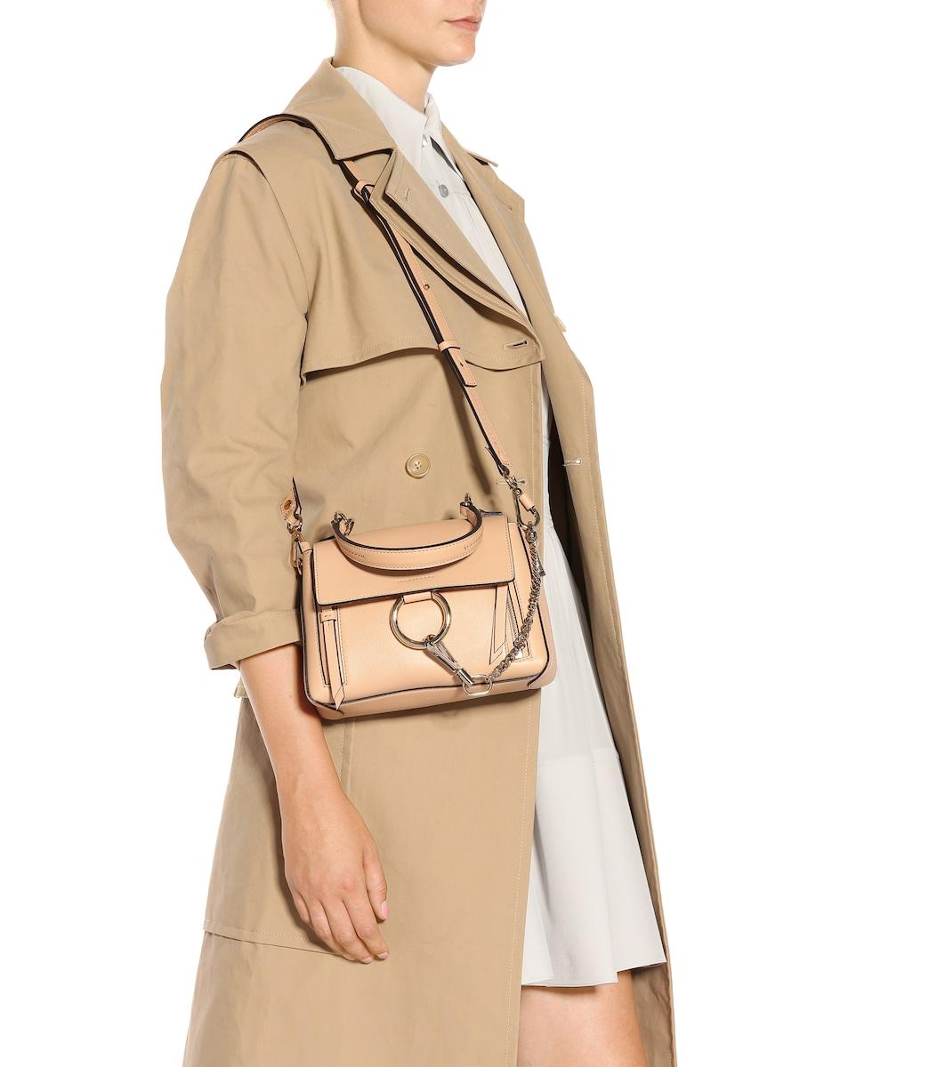 737b0b36c Mini Faye Day Leather Shoulder Bag   Chloé - mytheresa.com