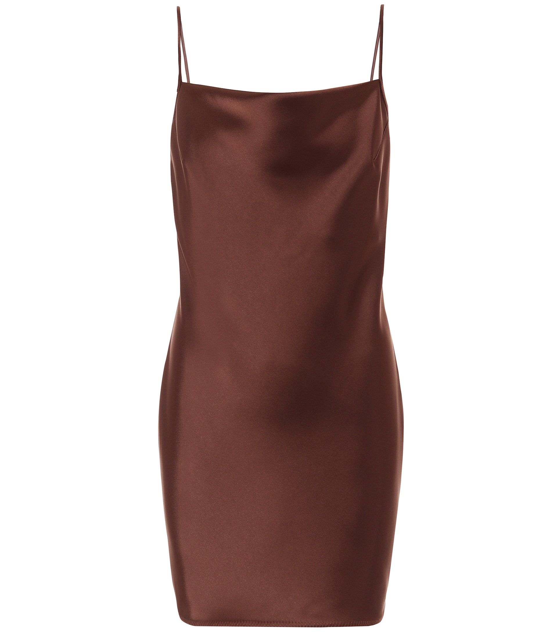 Metallic Bronze Mini Dress
