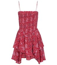 Anka paisley cotton minidress