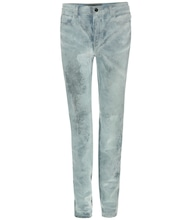 Wang 001 velvet high-rise slim jeans