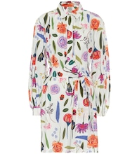 Aubree floral cotton shirt dress
