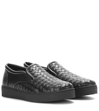 Intrecciato leather slip-on sneakers