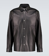 Lark leather overshirt