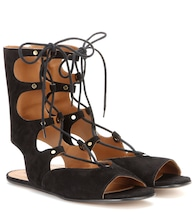 Foster lace-up suede gladiator sandals