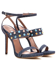 Fayelinn Stone denim sandals