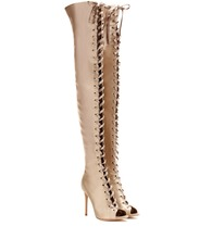 Marie satin over-the-knee boots