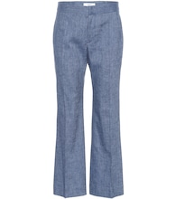 Oxy linen-blend flared pants