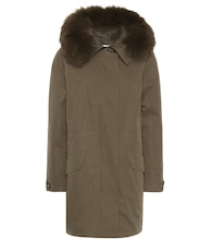 Army fur-trimmed parka