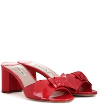 Patent leather slip-on sandals