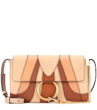 Faye Small suede and leather shoulder bag