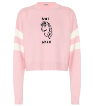 Not Nice cropped wool sweater