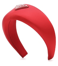 Logo-embellished satin headband