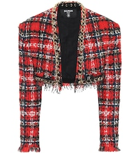 Cropped-Jacke aus Tweed