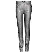 Leta metallic cotton-blend trousers
