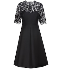 Lace-panelled dress