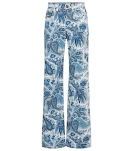 Paisley high-rise straight jeans