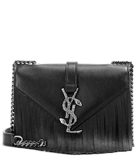 Classic Monogram fringed leather shoulder bag