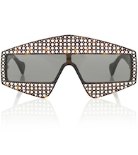 Embellished rectangular sunglasses