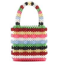 Antonia striped beaded tote