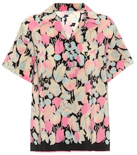 Floral-printed silk shirt