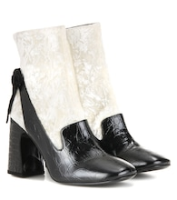 Andi velvet and leather ankle boots