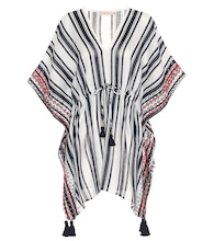 Striped linen cover-up