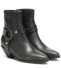 West Harness leather ankle boots