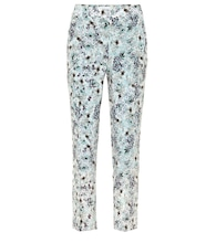 Gianna floral silk crêpe de chine pants