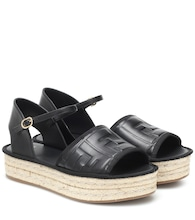 FF leather espadrille sandals