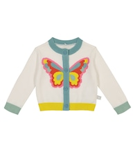 Baby intarsia cotton cardigan