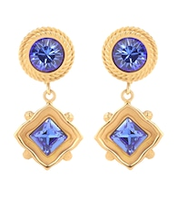 Crystal clip-on earrings