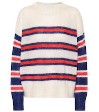 Russell striped mohair-blend sweater