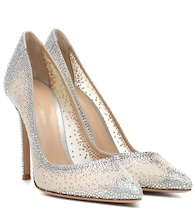 Rania 105 crystal-embellished pumps