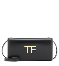 TF leather wallet shoulder bag